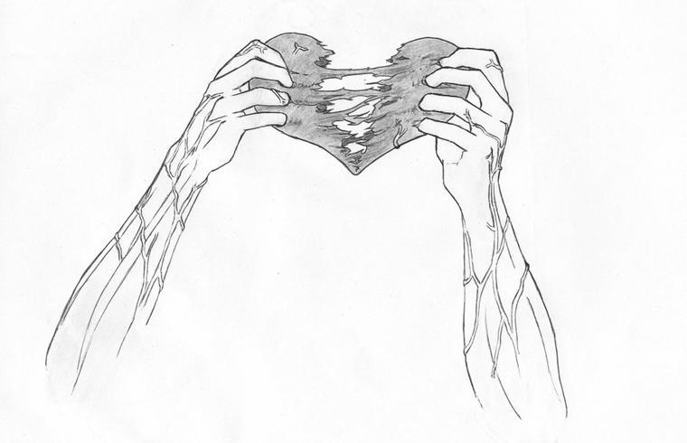 Coeur Brisé Dessin Kawaii Coeur