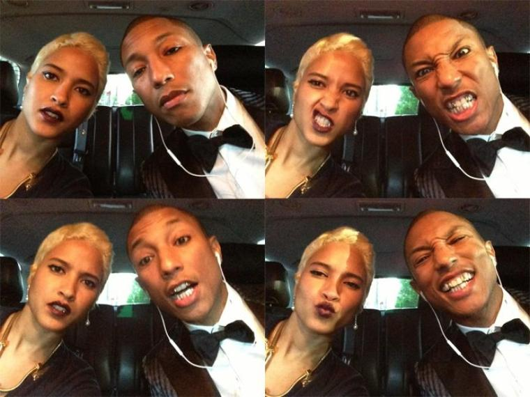Pharell Williams and new bride, Helen Lasichanh. CREDIT: theneptunes.org