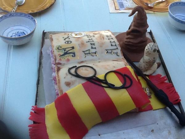 voici mon g teau d 39 anniversaire harry potter blog de hermione ron17. Black Bedroom Furniture Sets. Home Design Ideas