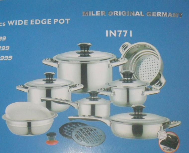 Batterie de cuisine inox 18 10 tapis59000 for Batterie de cuisine inox
