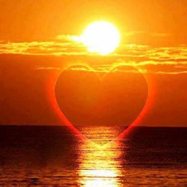 Good Morning Sunshine Rap : Coeur coucher de soleil stéphanie